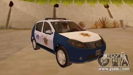 Renault Sandero Police LV for GTA San Andreas back view