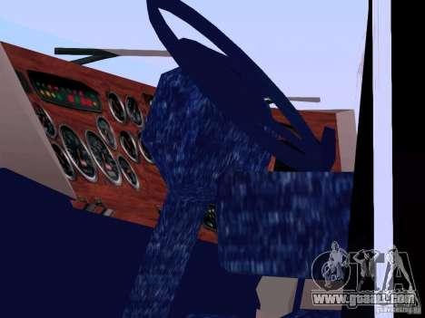 Peterbilt 387 for GTA San Andreas inner view