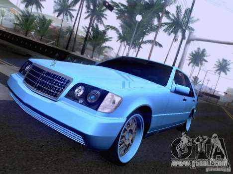 Mercedes-Benz S-Class W140 for GTA San Andreas back left view