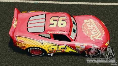 Lightning McQueen for GTA 4 right view