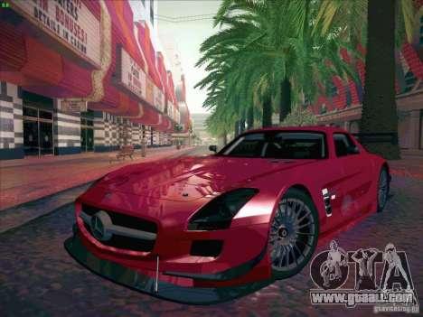 Mercedes-Benz SLS AMG GT-R for GTA San Andreas back view