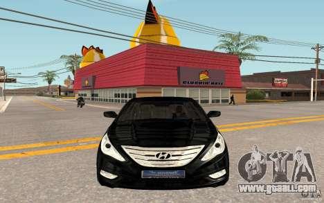 Hyundai Sonata 2012 for GTA San Andreas left view