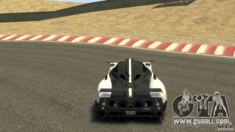Pagani Zonda Cinque 2009 for GTA 4 right view