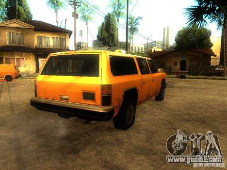 Taxi Rancher for GTA San Andreas back left view