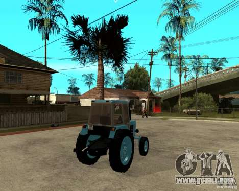 Tractor Belarus 80.1 and trailer for GTA San Andreas back left view