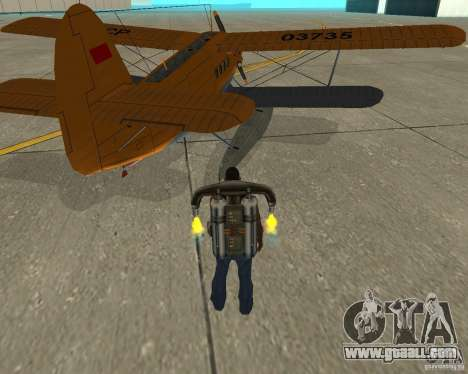 An-2V for GTA San Andreas back left view