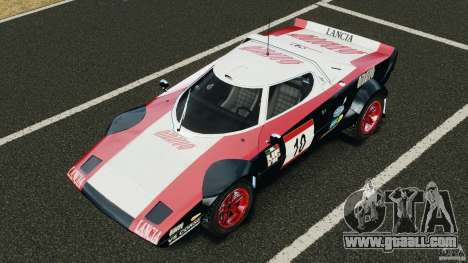 Lancia Stratos v1.1 for GTA 4 bottom view