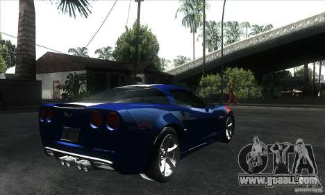 Chevrolet Corvette Grand Sport 2010 for GTA San Andreas interior