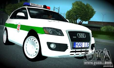 Audi Q5 TDi - Policija for GTA San Andreas inner view