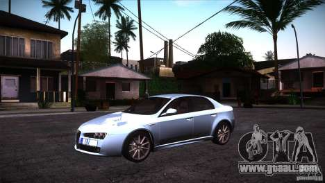 Alfa Romeo 159 Ti for GTA San Andreas back left view