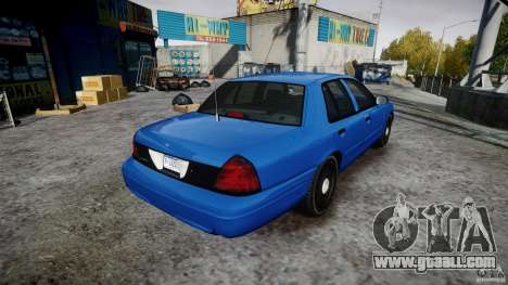 Ford Crown Victoria Detective v4.7 [ELS] for GTA 4 inner view