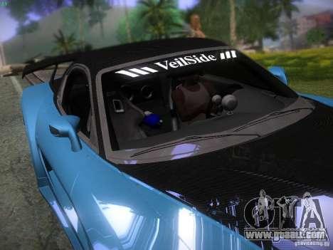 Mazda RX 7 Veil Side for GTA San Andreas interior