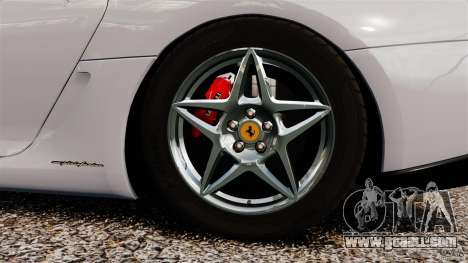 Ferrari 599 GTB Fiorano 2006 for GTA 4 inner view