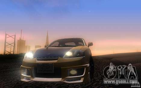 Hyundai Tiburon V6 Coupe tuning 2003 for GTA San Andreas side view