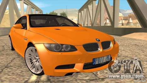 BMW M3 E92 for GTA San Andreas right view