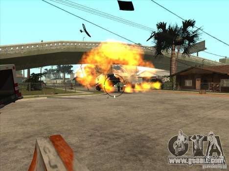 The CLEO script: machine gun in GTA San Andreas for GTA San Andreas fifth screenshot
