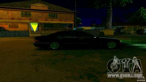 Mercedes S500 for GTA San Andreas back left view