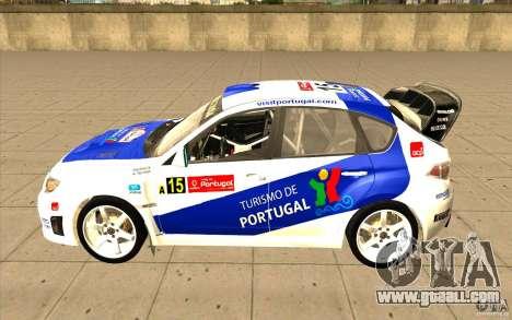 Subaru Impreza WRX STi with new vinyl unique for GTA San Andreas engine