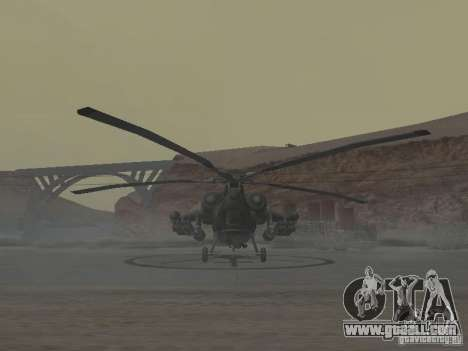 Mi-28 for GTA San Andreas back left view