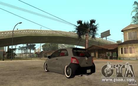Toyota Yaris II Custom for GTA San Andreas back left view