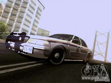 Ford Crown Victoria Canadian Mounted Police for GTA San Andreas