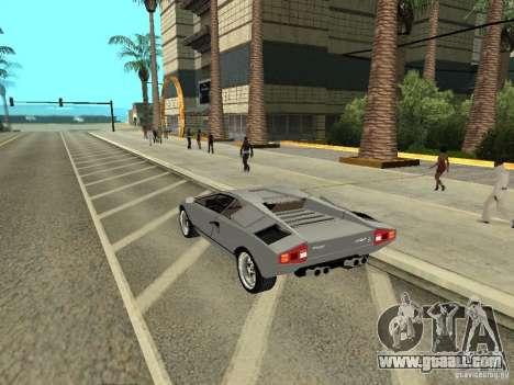 Lamborghini Countach LP400 for GTA San Andreas left view