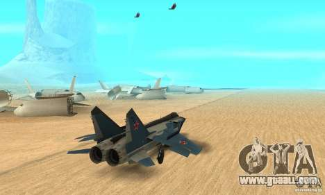 MiG-31 Foxhound for GTA San Andreas left view