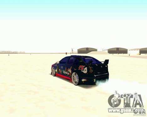 Skoda Octavia III Tuning for GTA San Andreas back view