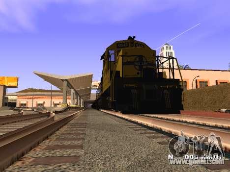 SD 40 UP BN Santa Fe for GTA San Andreas back left view