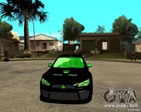 Mitsubishi Lancer Evolution X E&R Prod for GTA San Andreas