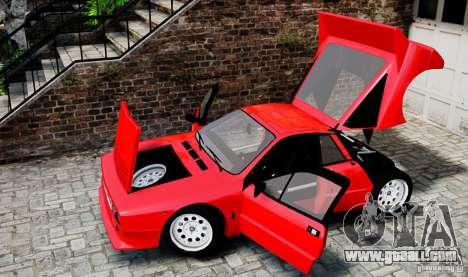 Lancia 037 Stradale for GTA 4 inner view