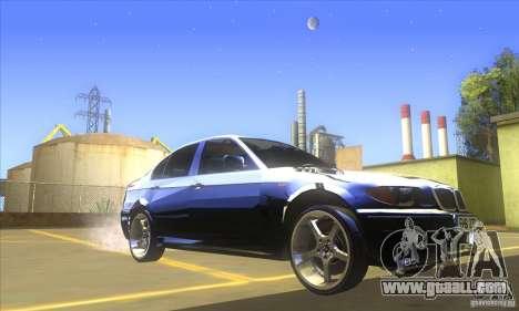BMW 325i E46 v2.0 for GTA San Andreas left view