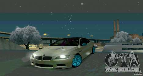 BMW E92 for GTA San Andreas back left view