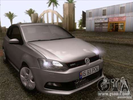 Volkswagen Polo GTI 2011 for GTA San Andreas inner view