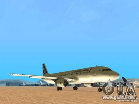 Airbus A320 Air France for GTA San Andreas left view