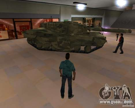 Camo tank for GTA San Andreas back left view