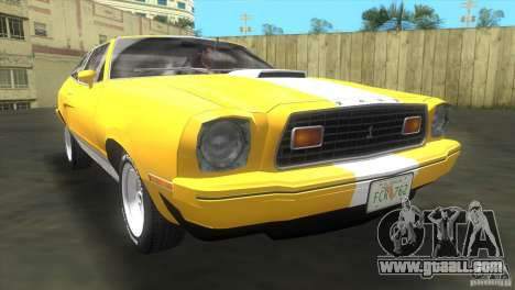 Ford Mustang Cobra 1976 for GTA Vice City