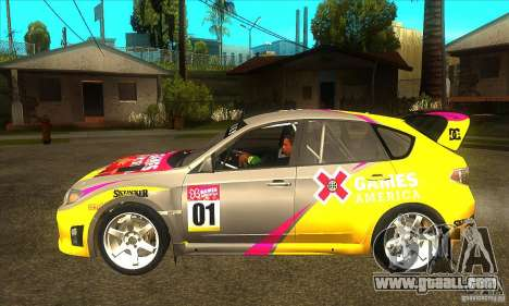 Subaru Impreza WRX STi X GAMES America of DIRT 2 for GTA San Andreas left view