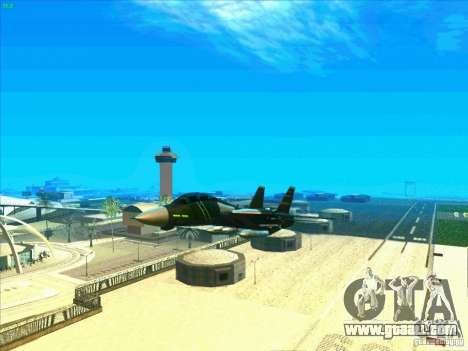 F-14 Tomcat Schnee for GTA San Andreas bottom view