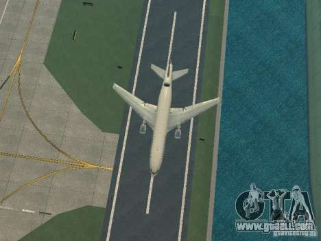 McDonell Douglas DC10 Continental Airlines for GTA San Andreas inner view