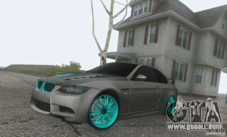 BMW M3 E92 Hellaflush v1.0 for GTA San Andreas right view