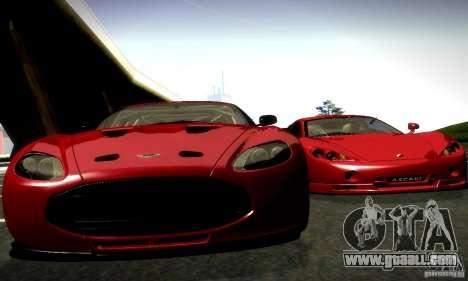 Aston Martin V12 Zagato Final for GTA San Andreas back left view