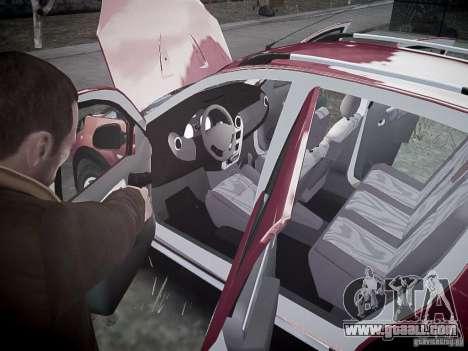 Dacia Sandero Stepway for GTA 4 interior