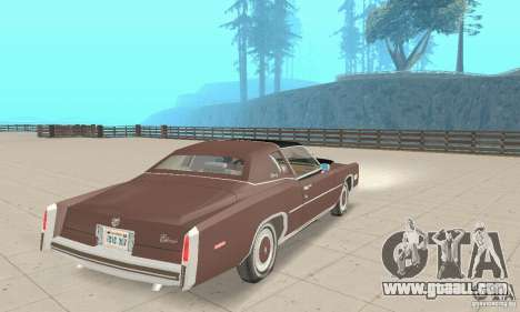 Cadillac Eldorado Biarritz 1978 for GTA San Andreas left view