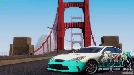 Hyundai Genesis Tunable for GTA San Andreas bottom view