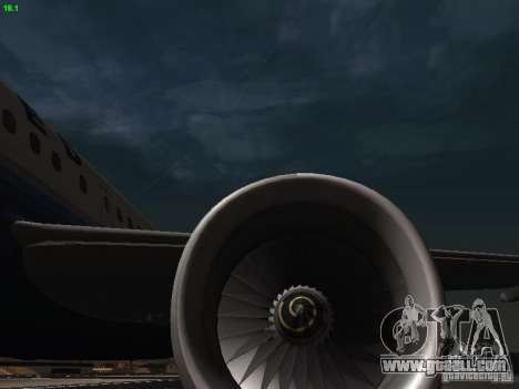 Airbus A319 United Airlines for GTA San Andreas side view