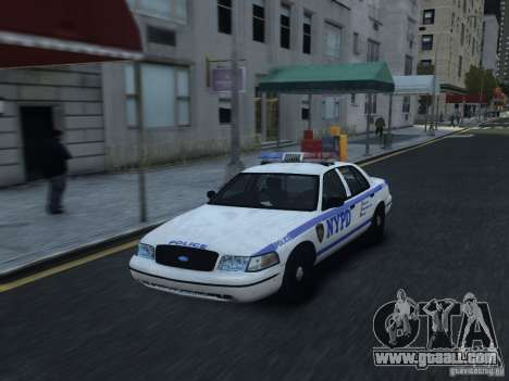 Ford Crown Victoria NYPD 2012 for GTA 4 inner view