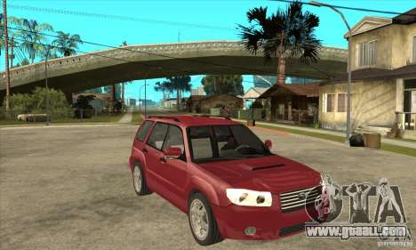 Subaru Forester for GTA San Andreas back view