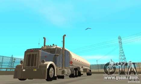 Peterbilt 379 Custom And Tanker Trailer for GTA San Andreas inner view