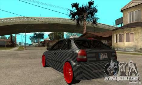 Honda Civic Carbon Latvian Skin for GTA San Andreas right view